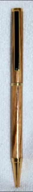 Arts and Crafts - Zebrano Pen woodturning, woodturnings, turning, turnings, turnery, turner, turners, woodturner, woodturners, lathe, lathes, wood, woodwork, woodworking, workshop, workshops, creative, creativity, trees